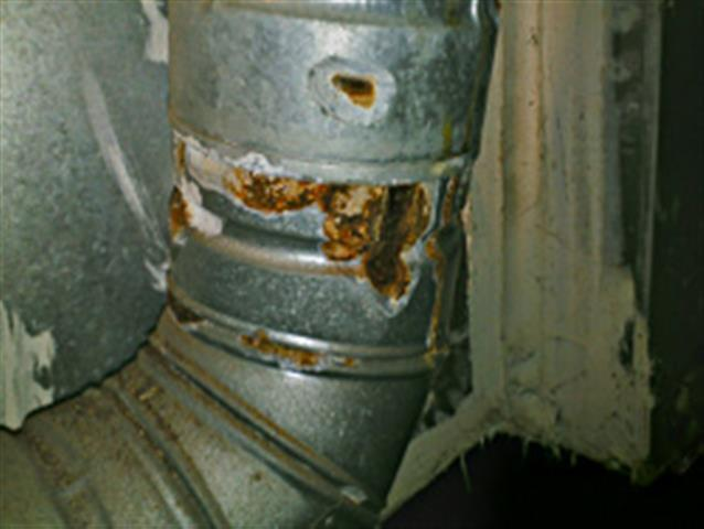 excessive rust on furnace flue pipe
