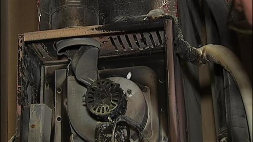 fire damage to furnace