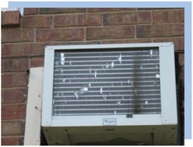 hail damaged ac wall unit